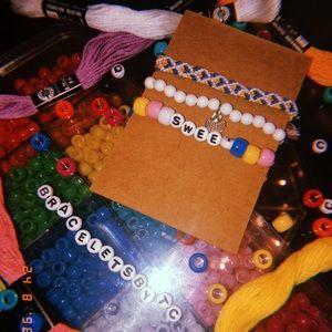 "Jewelry - ""Sweet"" friendship bracelet set of 3"